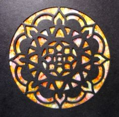 Faux Stained Glass card using Eastern Medallions Thinlits | The Creative Compendium