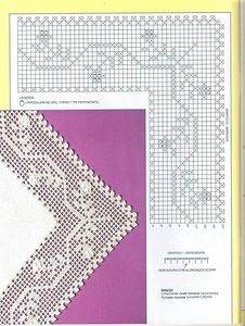 "Photo from album ""Barrados com Cantos on Yandex. Crochet 101, Crochet Yoke, Thread Crochet, Crochet Trim, Chrochet, Filet Crochet, Crochet Stitches, Crochet Edging Tutorial, Crochet Edging Patterns"