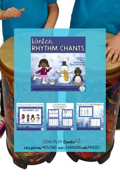 Winter Music Chants and Songs: Rhythms-Body Percussion-Instruments & Notes Movement Preschool, Preschool Music Activities, Reading Activities, Movement Activities, Music Education Activities, Teaching Resources, Elementary Choir, Music And Movement, Interactive Learning
