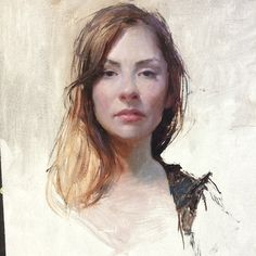 Portrait demo of the beautiful @santanamina  Jeremy Lipking ★ Find more at http://www.pinterest.com/competing