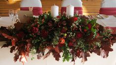 Image result for christmas top table arrangement