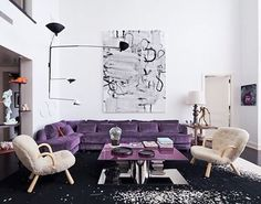 Art In The Home #ChristopherWool Collector: Dorothy Berwin and Dominique Levy #CreativeArtPartners #Cap #ArtSellsHomes #LivingWithArt #StagetoSell #ArtInTheHome #ArtInContext #ContemporaryArt #TagAFellowCollector
