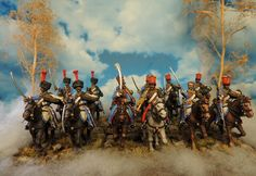 Murawski polish Hussars by Francesco Thau Small Soldiers, Toy Soldiers, Napoleonic Wars, Reference Images, Miniture Things, Military History, Warfare, Vignettes, Superhero