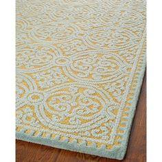 Safavieh Handmade Moroccan Cambridge Blue Gold Wool Rug 10 X 14 Dining Room