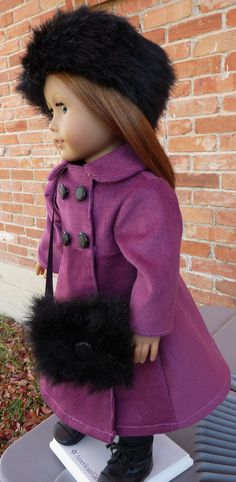 Winter Coat, Hat and Muff. Need to get this for my daughter for her birthday!!!