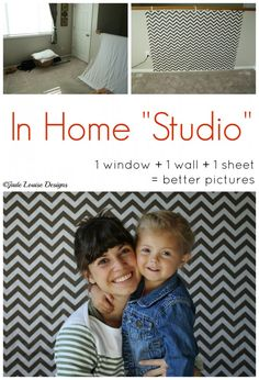 Create this in home photography studio in just minutes! All you need is a window, wall, sheet, and camera.