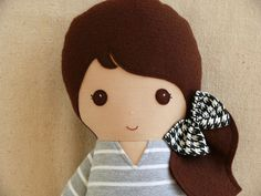 Reserved for SkyFabric Doll Rag Doll Brown Haired by rovingovine