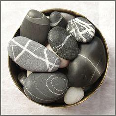Beach and River pebbles. Pebble Stone, Pebble Art, Stone Art, Wishing Stones, Rock And Pebbles, River Pebbles, River Stones, Sticks And Stones, Rock Collection