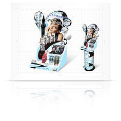 プロダクトデザイン 化粧品店頭什器 | T3design