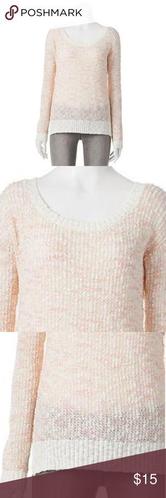 """LC Lauren Conrad Marled Textured Sweater L Coral Enhance your cool-weather wardrobe with this women's LC Lauren Conrad sweater. Marled pattern and textured design deliver a charming combination.    PRODUCT FEATURES    Drop-shoulder design    Vented hem    Scoopneck    Long sleeves     FABRIC & CARE    Cotton, acrylic    Hand wash    Actual measurements: bust: 44"""", waist: 44"""", length: 27"""" LC Lauren Conrad Sweaters Crew & Scoop Necks"""