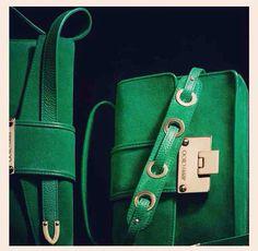 Jimmy Choo bag in gemstone green