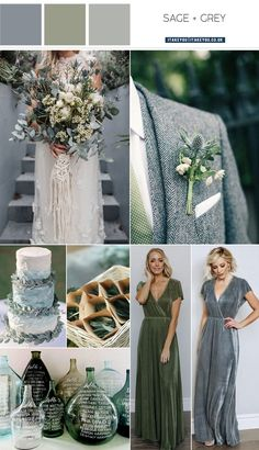 grey and sage wedding, SAGE WEDDING sage wedding color , wedding color, sage wedding color - Wedding interests Grey Wedding Theme, Wedding Decor, Sage Green Wedding, Wedding Themes, Bright Wedding Colors, Rustic Wedding Colors, Winter Wedding Colors, Wedding Color Combinations, Wedding Colour Palettes