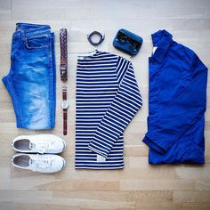 Outfit grid - Nautical look