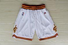 Men's NBA Cleveland Cavaliers White Short