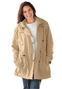 fashion avenue womens plus size zip #anorak soft shell rain jacket