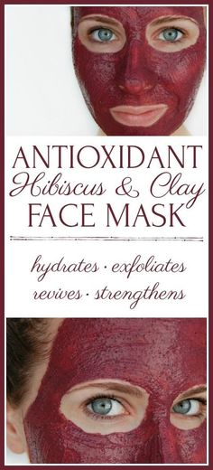 "Did you know that hibiscus is called the ""botox plant""? Hydrate, exfoliate, revive, and strengthen your skin with this antioxidant hibiscus and clay face mask! #facemask #hibiscus #greenbeauty #diyskincare"