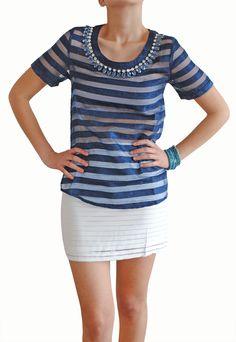 Blusa Collar Brillante; comprala en www.dedaldeororopa.com