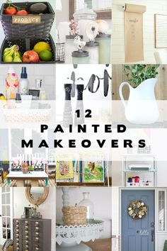 12 CREATIVE Painted Makeovers! These 12 bloggers updated existing items with simple paint makeovers!
