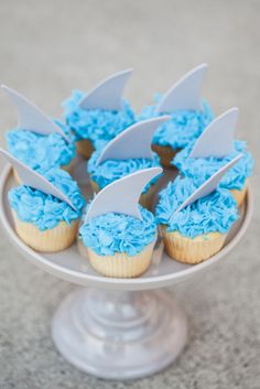 Shark fin cupcakes!