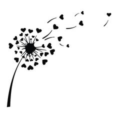 Designs Discover Dandelion Heart Love Cuttable Design PNG DXF SVG & eps File for Silhouette Cameo and Cricut Diy Cutting Board, Cutting Tables, Dandelion Drawing, Free Svg, Vector Free, Silhouette Clip Art, Flower Silhouette, Silhouette Cameo Freebies, Silhouette Design