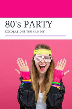 DIY 80's party decorations that bring the fun 80's punch to an upcoming party all DIY and easy to make. #DIY #80sparty #DIY #partydecorations