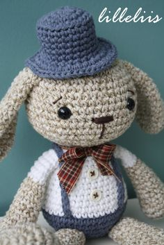 PATTERN Mister Bunny crochet amigurumi toy by lilleliis on Etsy