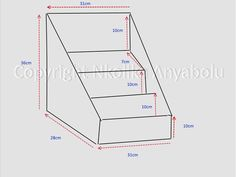 Specifications for making greeting card display stands