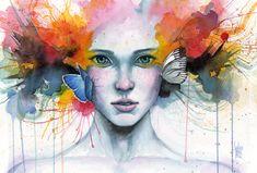 'Satori' · Watercolor, acrylic and pastel Guillem Marí 2012