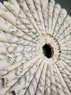 Sheet Music Wreath for the practice room craft-ideas