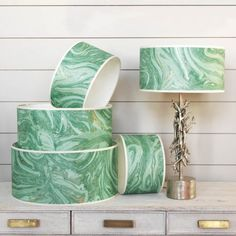 Makrana Emerald Lamp Shades | Lamp Shades | Graham & Green