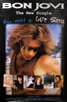 For Sale - Bon Jovi This Ain't A Love Song UK Promo poster - See this and 250,000 other rare & vintage vinyl records, singles, LPs & CDs at http://eil.com