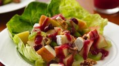 Looking for a delicious fruit salad recipe? Then check out this apple salad served with cranberry  vinaigrette - ready in just 20 minutes!