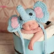 elephant crochet hat size  newborn-3 mon - via @Craftsy....cute photo prop.  $3.99