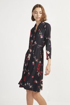 Get an instant update to your wardrobe with these discount women's dresses in the French Connection style, from v-neck sequin dresses to velvet maxi dresses. Wrap Dress Outfit, Wrap Dress Floral, Dress Outfits, Plus Size Dresses, Dresses For Sale, Wrap Dresses, French Connection Style, Ladies Dress Design, Sequin Dress