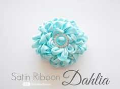 Satin Ribbon Dahlia ~ The Ribbon Retreat Blog