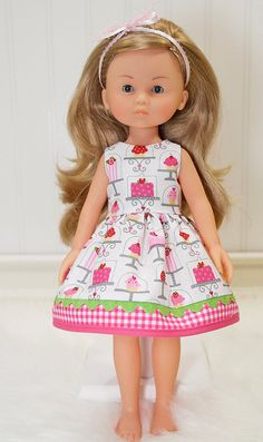Corolle Les Cheries Doll Clothes Dress Heart for by LittleNoel