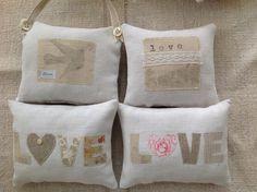 Love lavender bags, appliqué by T& Linen