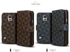 LOUIS DIARY PREMIUM CARD POCKET CHECK PATTERN WALLET PHONE CASE FOR GALAXY S4