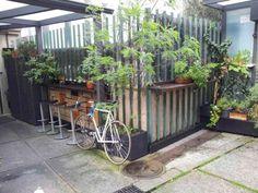 #terraza #rincónverde #bicicleta #mimosa
