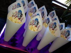 Sonic popcorn cones--did the cones with daughters Birthday.  SO EASY and kid-friendly!