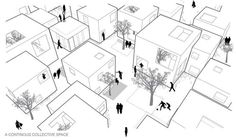 "ALICE IN WONDERWALL – 32 DWELLINGS With this project for TEMPERE (Finland) the Italian architects Mariabruna Fabrizi, Fosco Lucarelli, Didier Numanovic were ""runner up"" at Europan 10."
