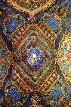 Spectacular roof, Castello di Sammezzano in Reggello, Tuscany, Italy. 43°42′10.83″N 11°28′18.13″E