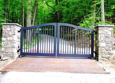 Automated wood picket gate