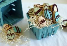 Mini Speckled Egg Cookies - love the colors!