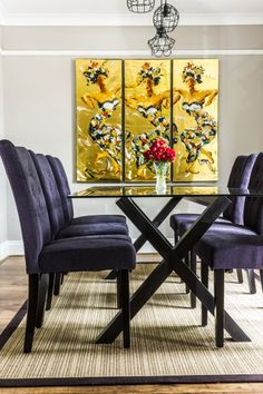 Make a statement with our Flynn Dining Chairs in Midnight Black with Unboxed | made.com/unboxed