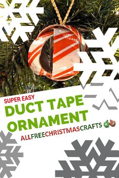 Create this easy ornament with household items like duct tape. It's a DIY Christmas decoration you can make in minutes!