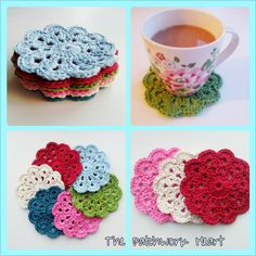 The Patchwork Heart: Cath Kidston inspired coasters from free pattern here: https://lh4.googleusercontent.com/-GrvyTr3IPAg/VAImqs53vKI/AAAAAAAACh4/JbTSV-lpGKA/s720/vintage%2520motif.jpeg