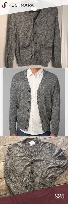 "Urban outfitters Your Neighbors cardigan M Gray cardigan from Urban Outfitters ""your Neighbors"" size M in men's. It is originally from the men's section but it's super cute for women too which is why I bought it!  Even thought it's a men's size it runs small. I'm a S-M in women's and it fits perfectly. Can also be worn open! It does have a barely noticeable stain on the left sleeve (picture provided). Other than that it's in great condition! urban outfitters your neighbors Sweaters Cardigans"