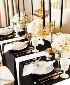 "images of black and white tabletop settings | Responses to ""58 Elegant Black And White Wedding Table Settings"""