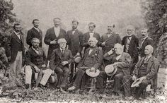 General Lee and other former Confederate officers in their first meeting since Appomattox, August 1869 (White Sulphur Springs, West Virginia.